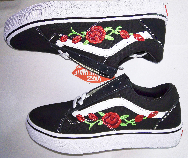 Custom Vans Old Skool Shoes Embroidered