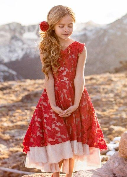 3d8fce58d32ef Joyfolie Red Lace Dress Jacqueline PREORDER | Joyfolie | Girls red ...