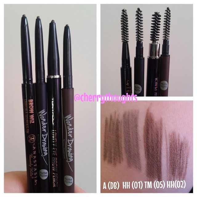 Attemping To Find A Dupe For Abh Brow Wiz In Dark Brown Holika