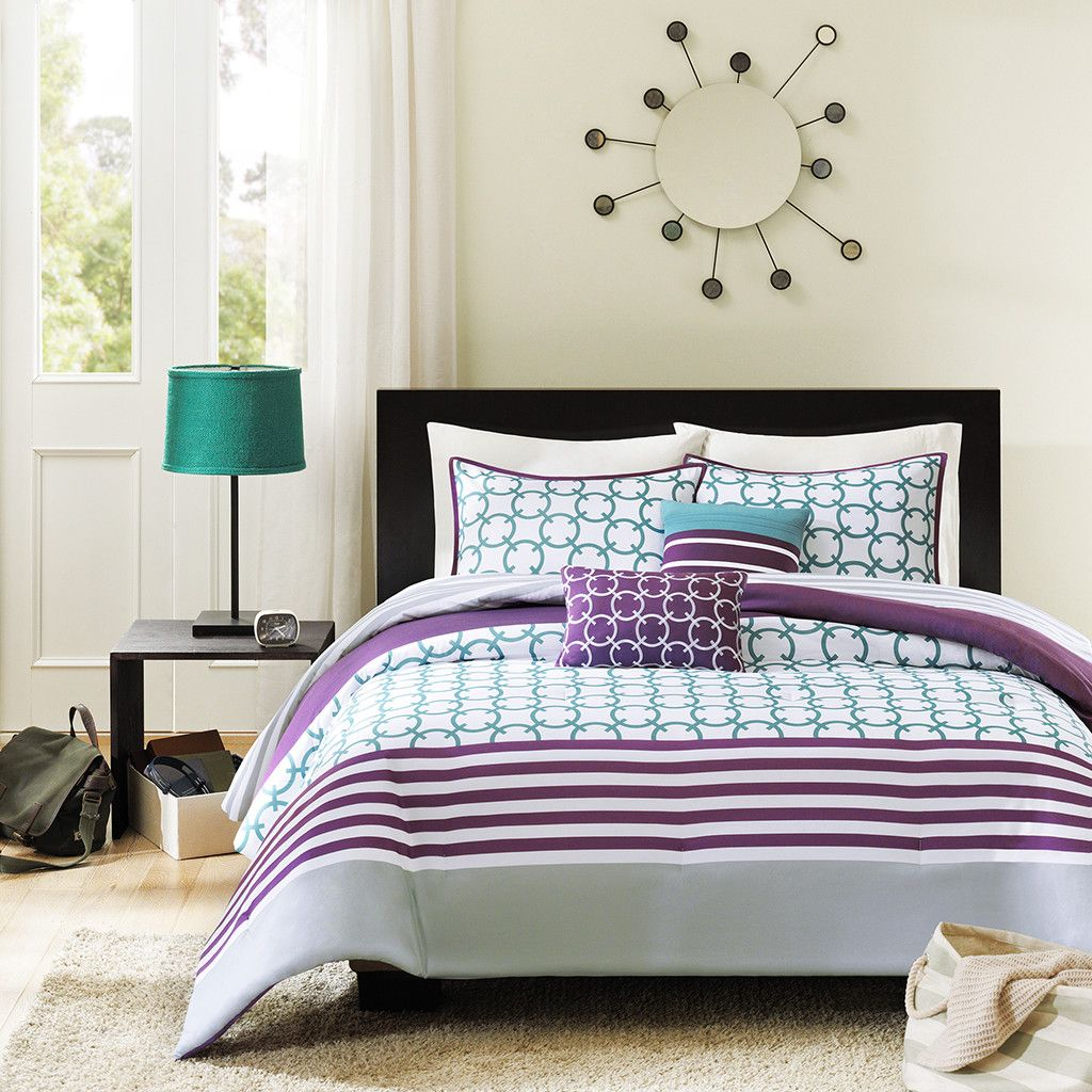 Intelligent Design Halo Comforter Set Purple Bedroom Ideas Bedding Click Here To Includes Shams And Decorative