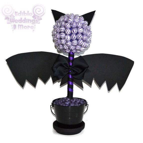 Bat Candy Topiary Halloween Centerpiece Bat by EdibleWeddings, $44.99