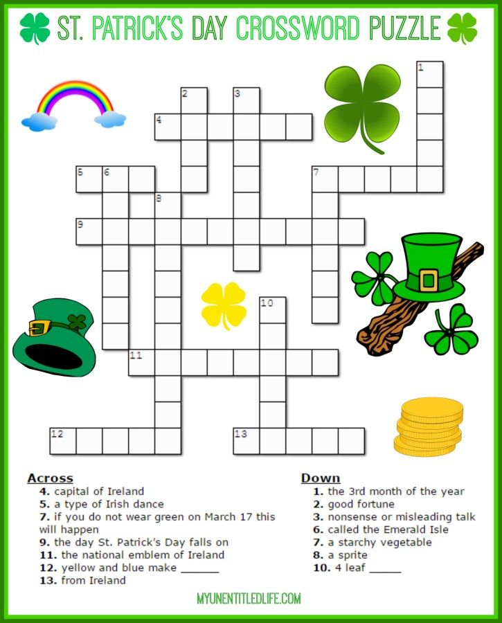 photo relating to St Patrick Day Puzzles Printable Free referred to as Pin upon Teenager Crafts Exciting Recipes