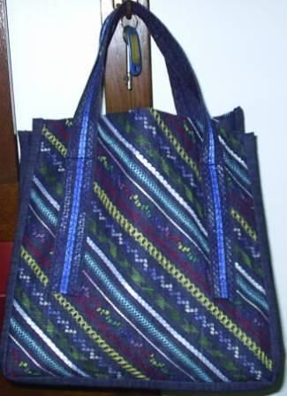 Make A Shopping Bag And Embellish It With Decorative Stitches