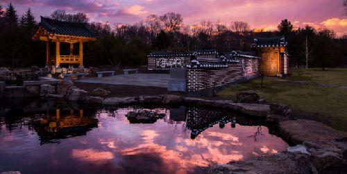 Meadowlark Botanical Garden Korean Pavilion At Sunset My Wedding Location Pinterest
