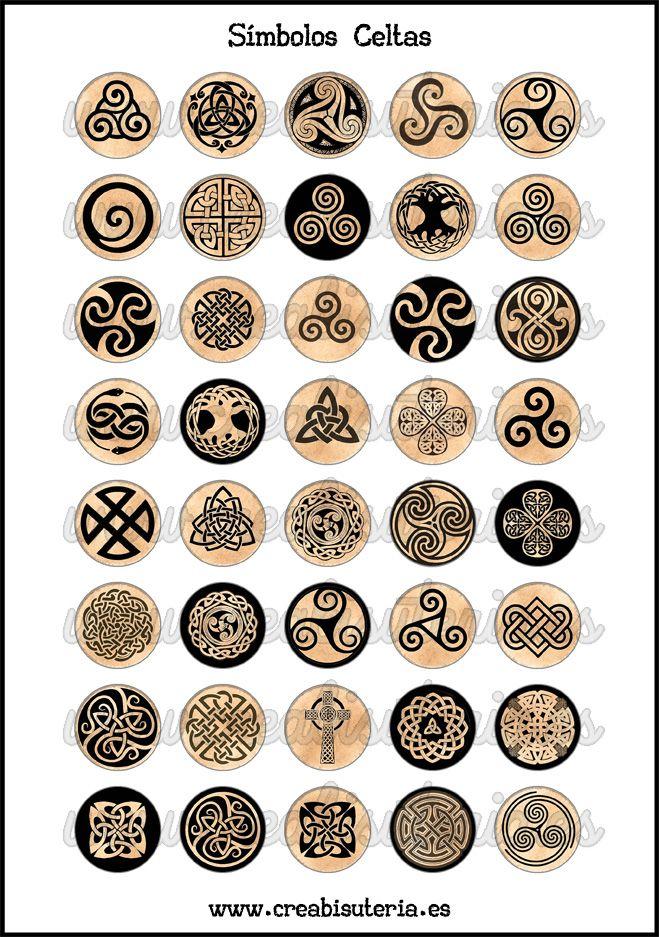 Lámina de imágenes simbología celta