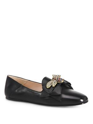 Gucci leather, Leather ballet flats, Gucci
