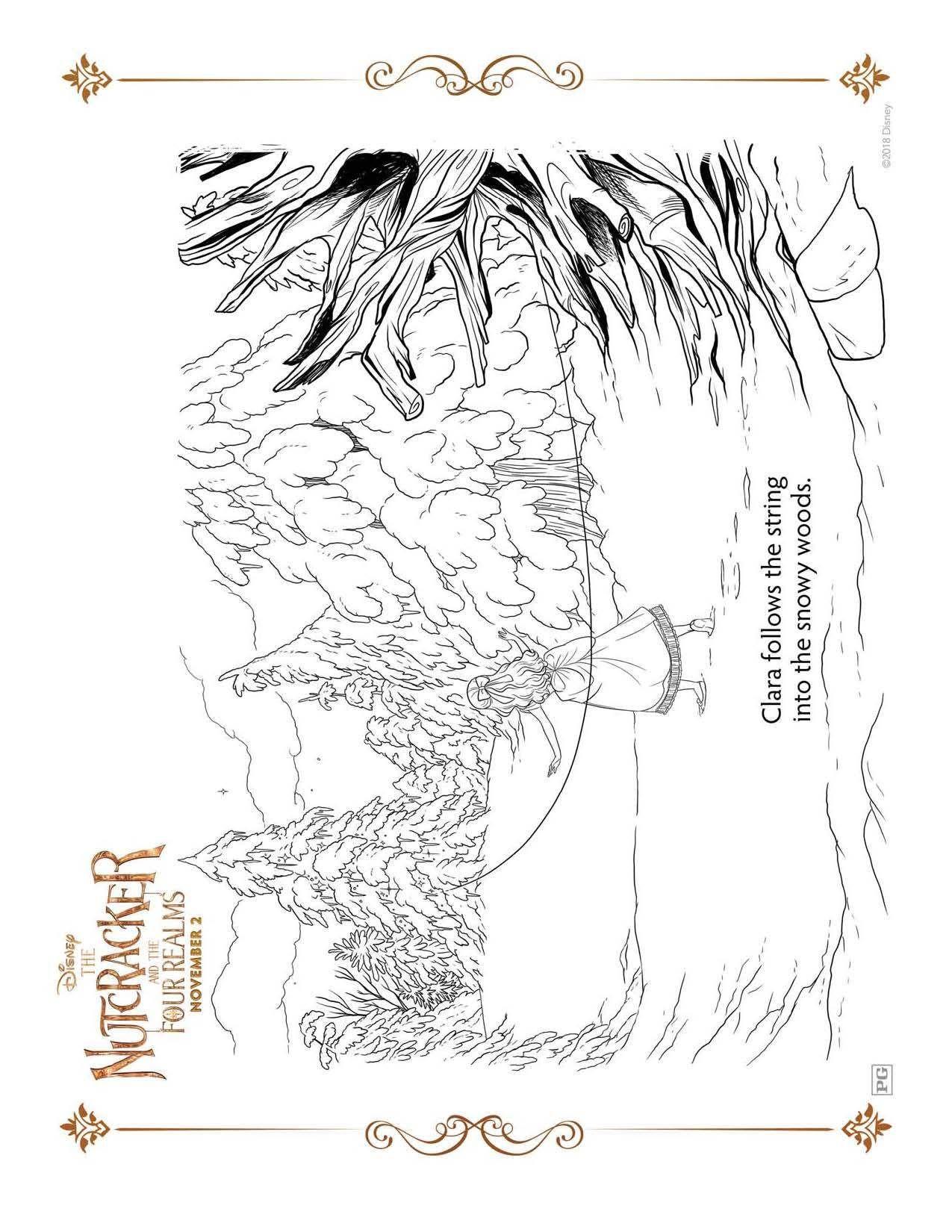 Dibujos para colorear gratis de El Cascanueces y los Cuatro Reinos