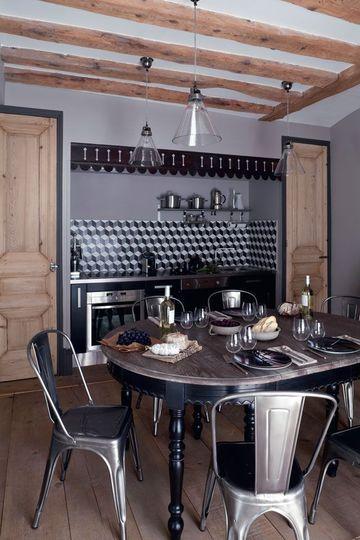 Lyon Matieres Brutes Pour Appartement Cosy Relooker Cuisine Cuisines Deco Cuisines Maison