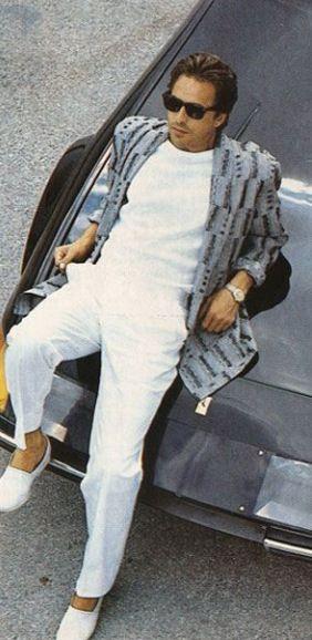 Don Johnson (TV: Miami Vice, 1984-1990) - style in series