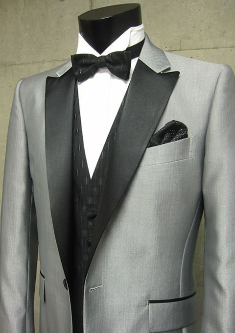 2013 New Fashion Short Tuxedos 100% Wool sliver Wedding / Prom Suit ...