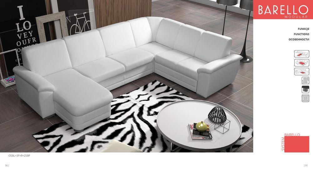 Couchgarnitur Sofa Couch Barello Osbl 3f R 2sbp Wohnlandschaft Schlaffunktion Sofa Sofa Couch Wohnen