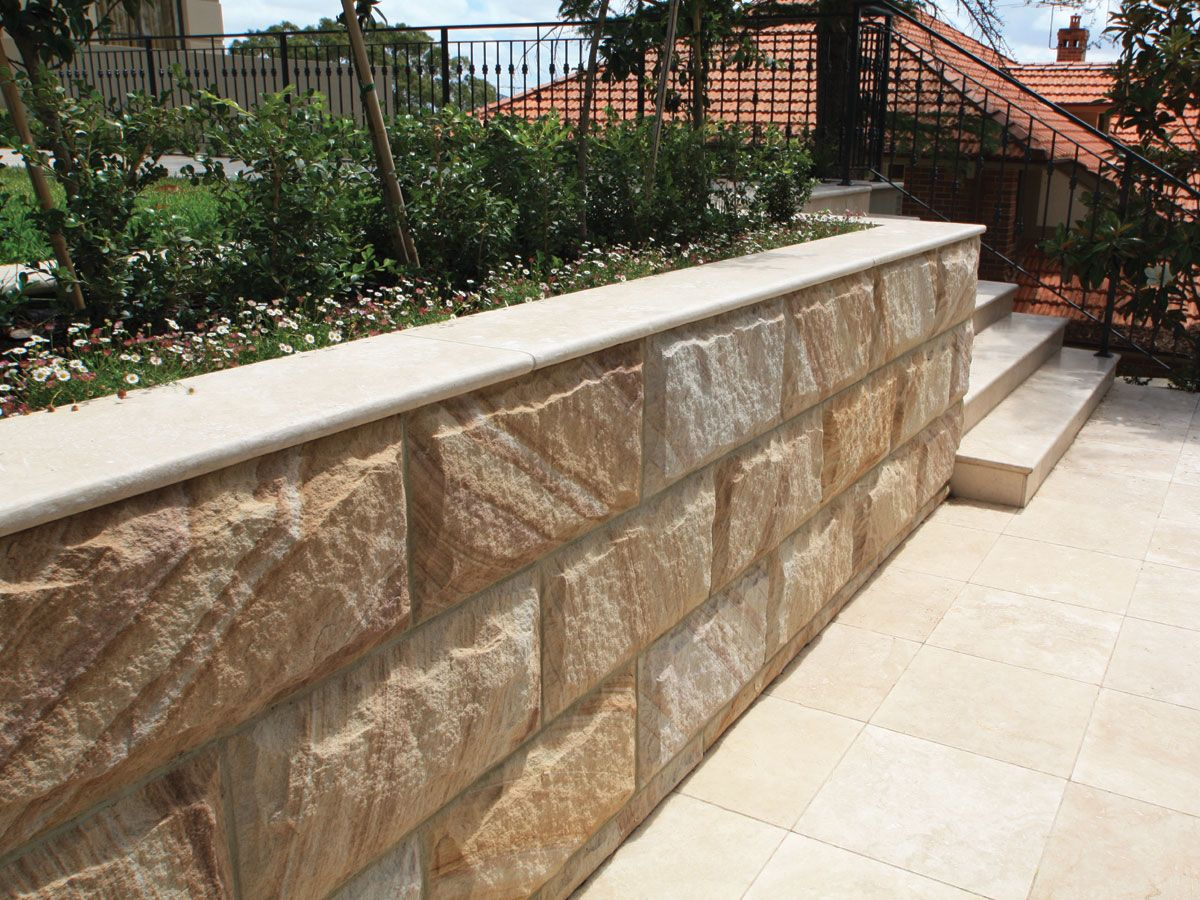 Sandstone Concrete Retaining Walls Google Search Concrete Retaining Walls Landscaping Retaining Walls Sandstone Wall