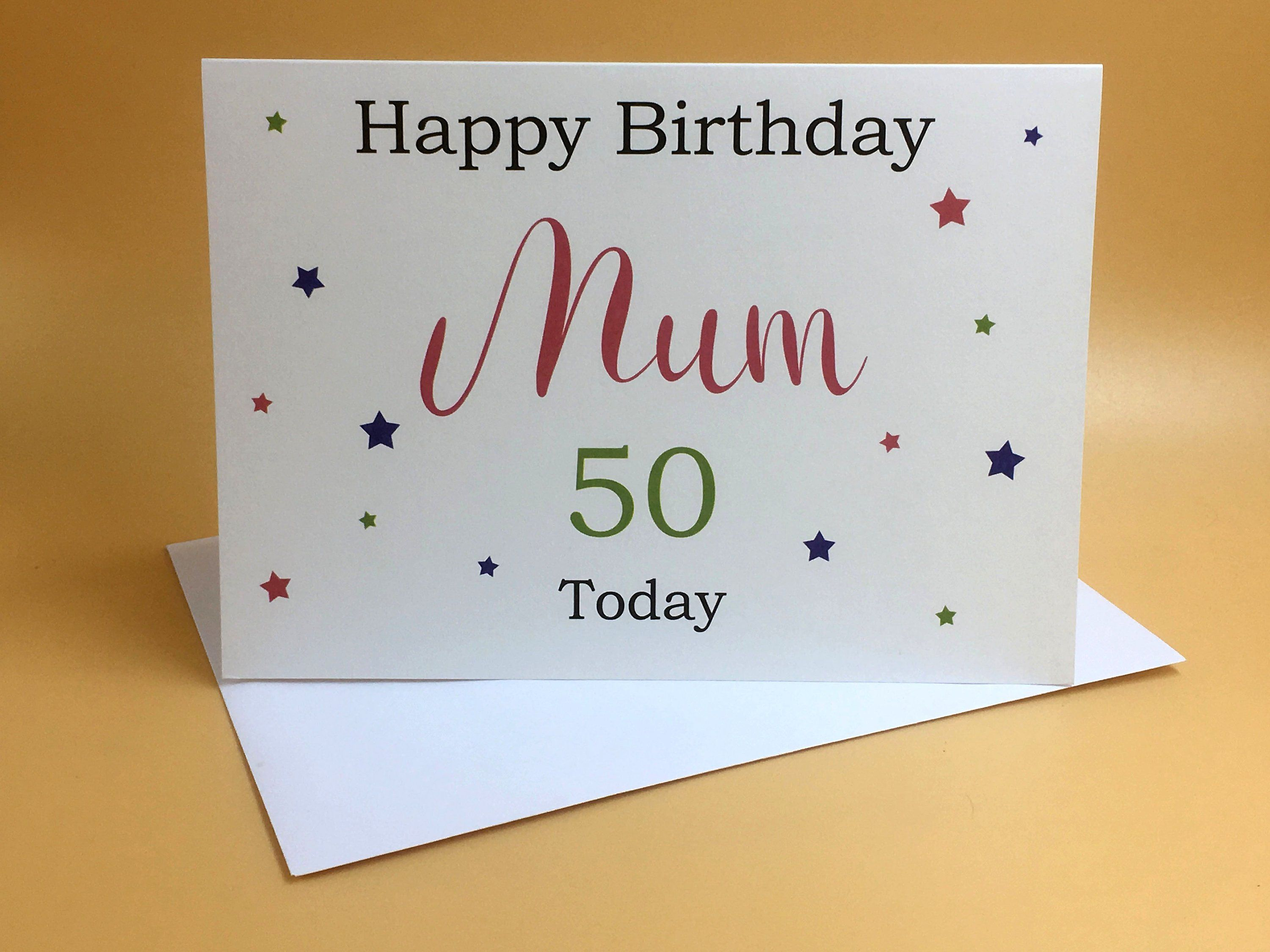 Birthday Card Mum Birthday Card Wife Birthday Card Her Etsy Birthday Cards For Her Personalized Birthday Cards 50th Birthday Cards