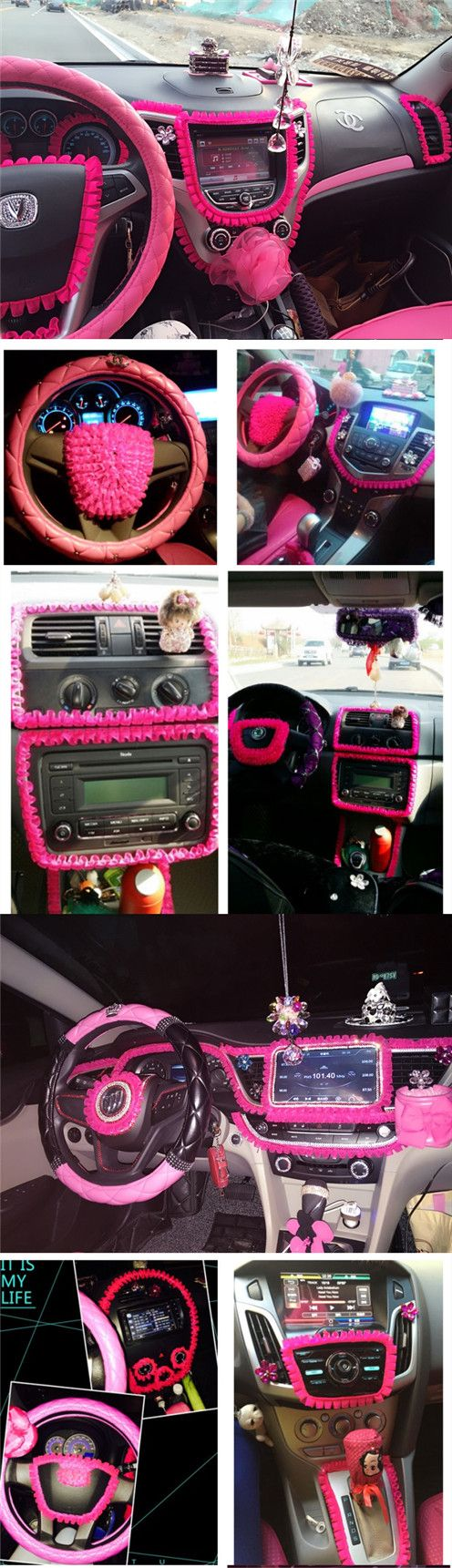 Car diy ruffle lace fringe for interior decorations hot - How to decorate your car interior ...