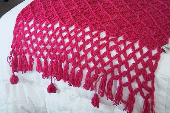 Wondrous Vintage Fred Leighton Fuschia Fuchsia Woven Shawl Bed Runner Theyellowbook Wood Chair Design Ideas Theyellowbookinfo