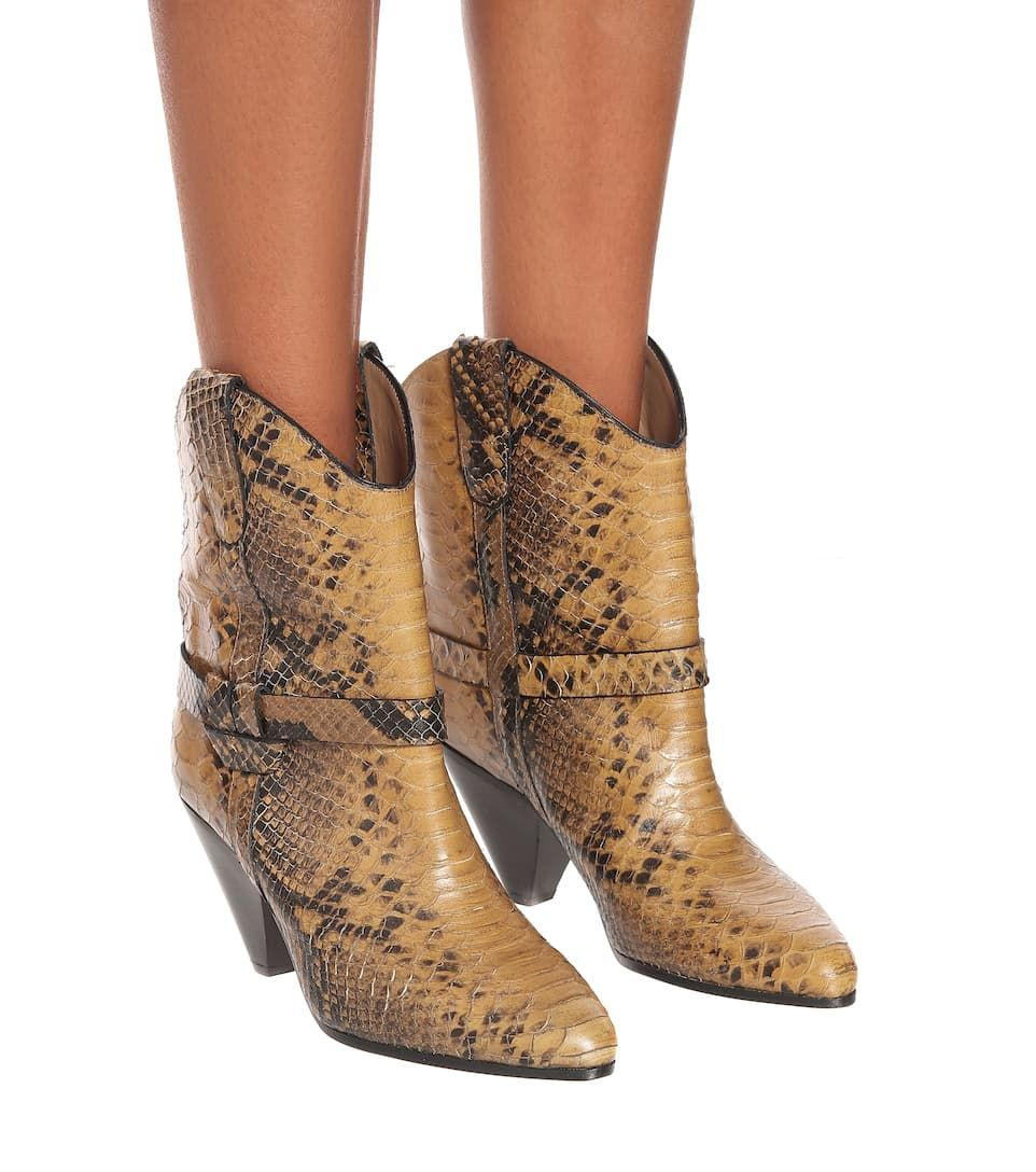 Deane Snake Effect Cowboy Boots Boots Cowboy Boots Leather Cowboy Boots