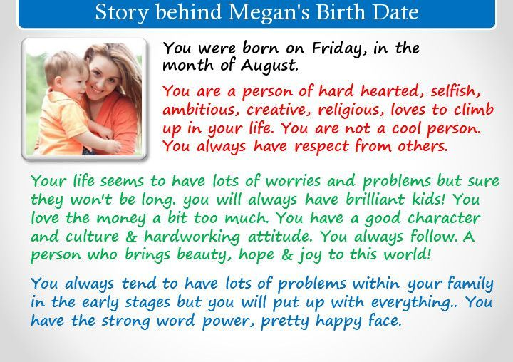 Check my results of Find Story behind your Birth Date