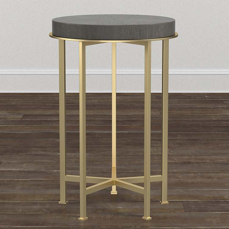 Modern Axel Round Side Table In Multiple Finishes Round Side
