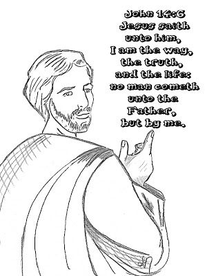 Childrens Gems In My Treasure Box: John 14:6 Coloring Page