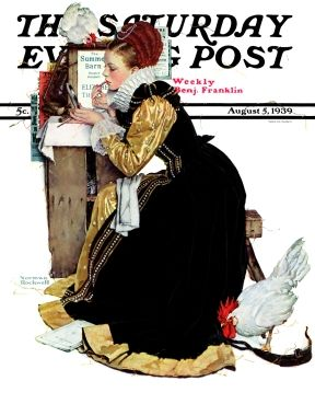 Norman Rockwell Actress Print SUMMER STOCK