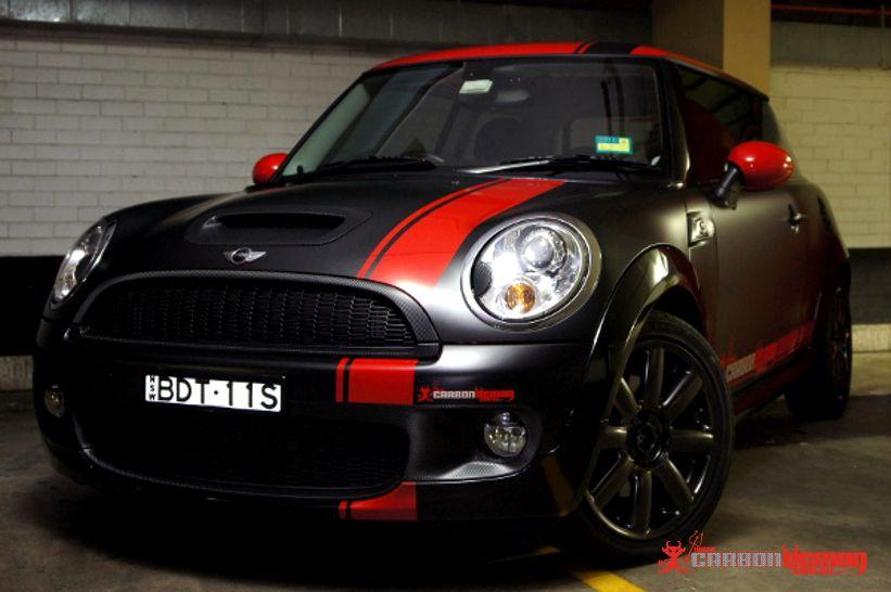 Mini Cooper Stripes Black Pink Coopers Accessories