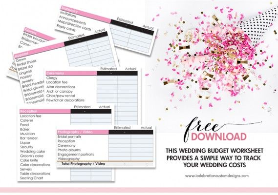 Freebies Wedding budget worksheet, Bridal shower games and Bridal - Download Budget Spreadsheet