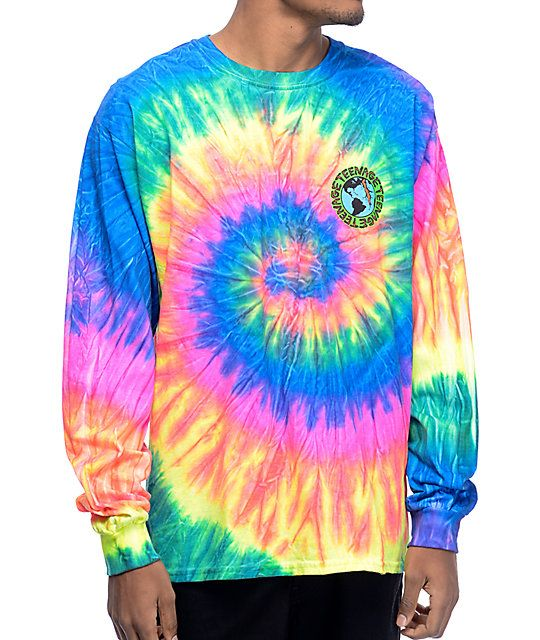9e5a262ee7d Add retro style to your wardrobe with the Multi tie dye t-shirt from  Teenage that has a cotton construction for comfort and mobility