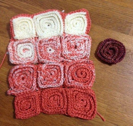 Crochet Pattern Gradient Of Spirals Flower Blanket Trials