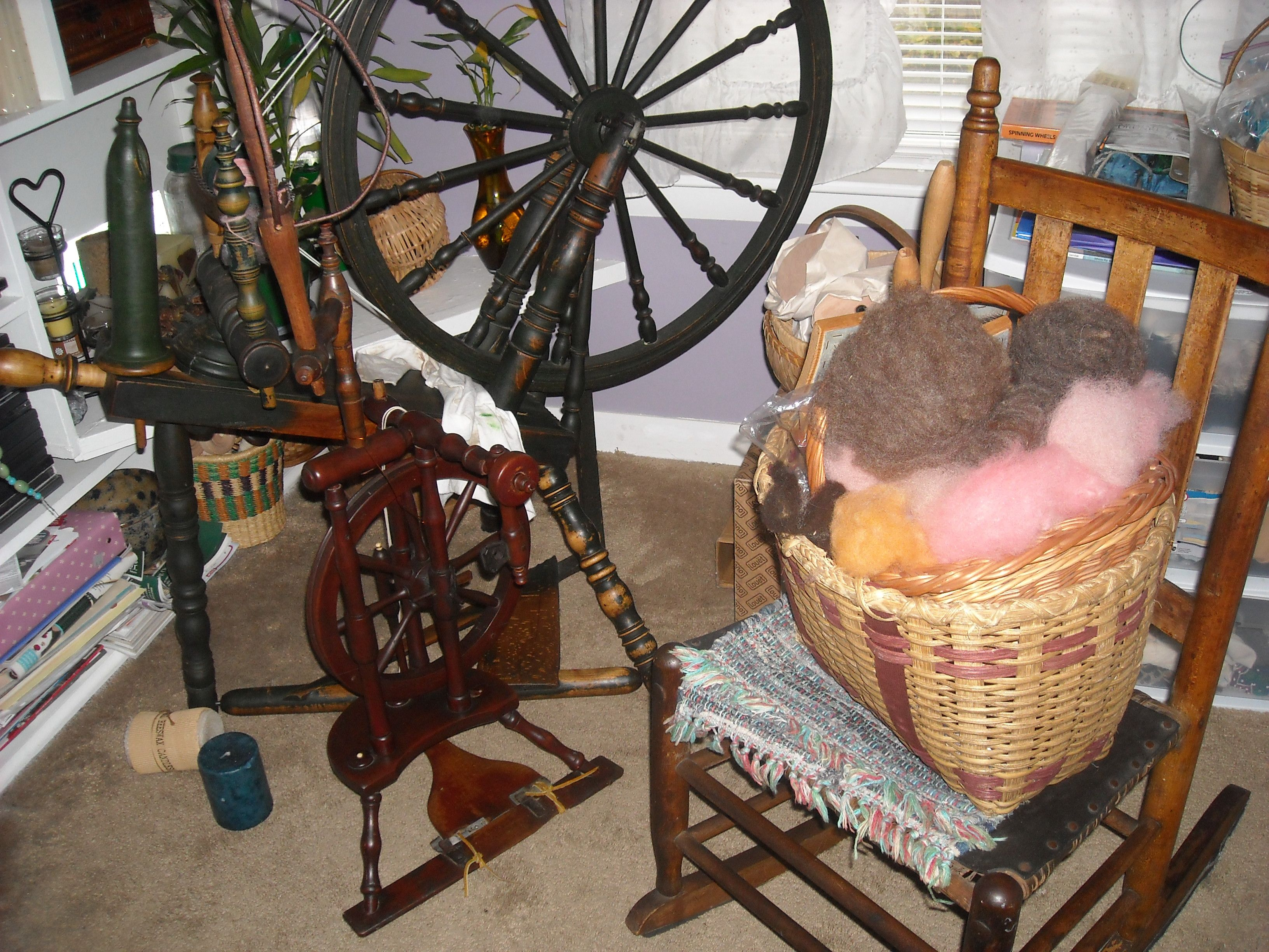 Upright German Parlor Wheel And The Scandinavian Wheel Spinning Wheel Spinning Wheel