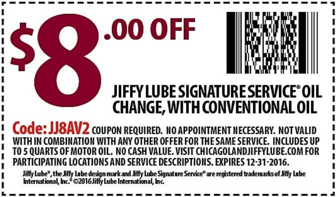 Download Coupon Chicagoland Jiffy Lube Oil Change Coupons Lube