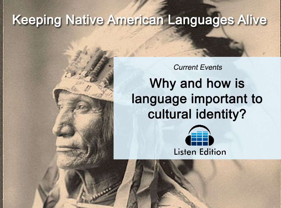 Teaching about #NativeAmericanHeritageMonth? Learn why this man is trying to save his native language and culture. www.listenedition.com