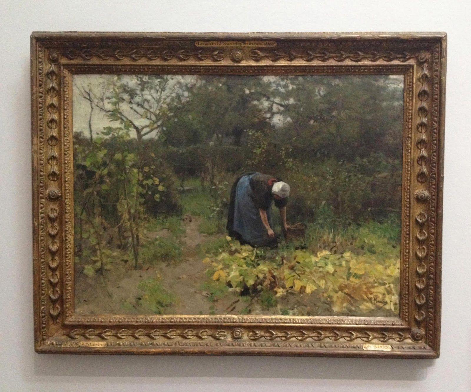 Anton Mauve - in the vegetable garden - 1887 avelienthoben.blogspot.com