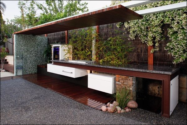 Modern Slim Contemporary Outdoor Kitchen Designs Outdoor Cookery