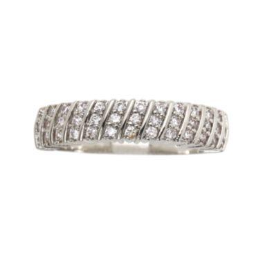 city x city® Cubic Zirconia Chevron Multi-Stone Band Ring
