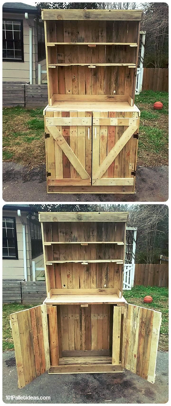 Diy Pallet Kitchen Hutch 101 Pallet Ideas For The Home