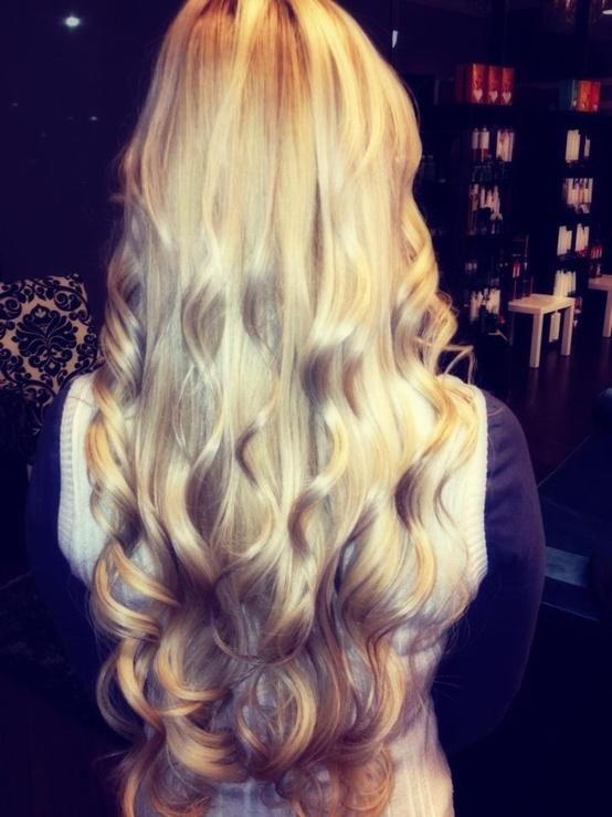 blonde :) her hair is perfect