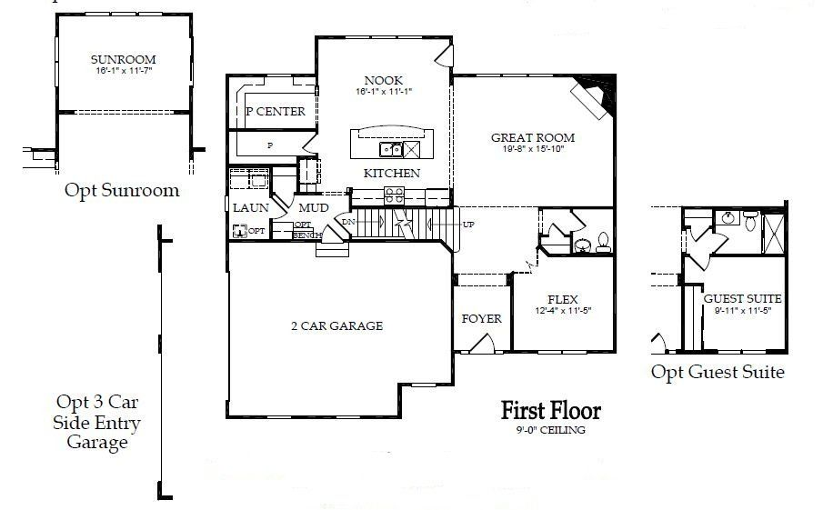 Pulte Crestwood Floorplan At Gemstone Valley 2,700+ Sf, 4