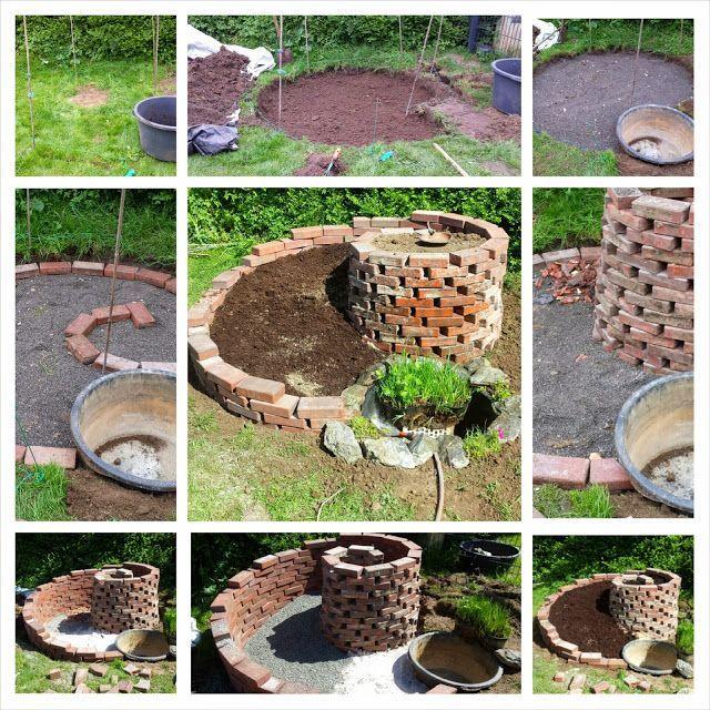 Erstellung Einer Krauterschnecke Krauterspirale Erstellung Einer Krauterschnecke Krauterspirale The Post Erstellung Ei Garten Pflanzen Garten Garten Hochbeet