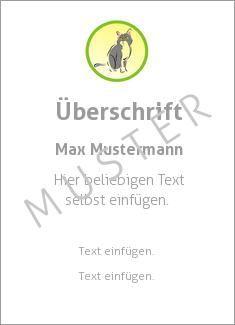 Muster Ehrenurkunde, Vereinsurkunde, Urkunde Tiere Medaille, Katze ...