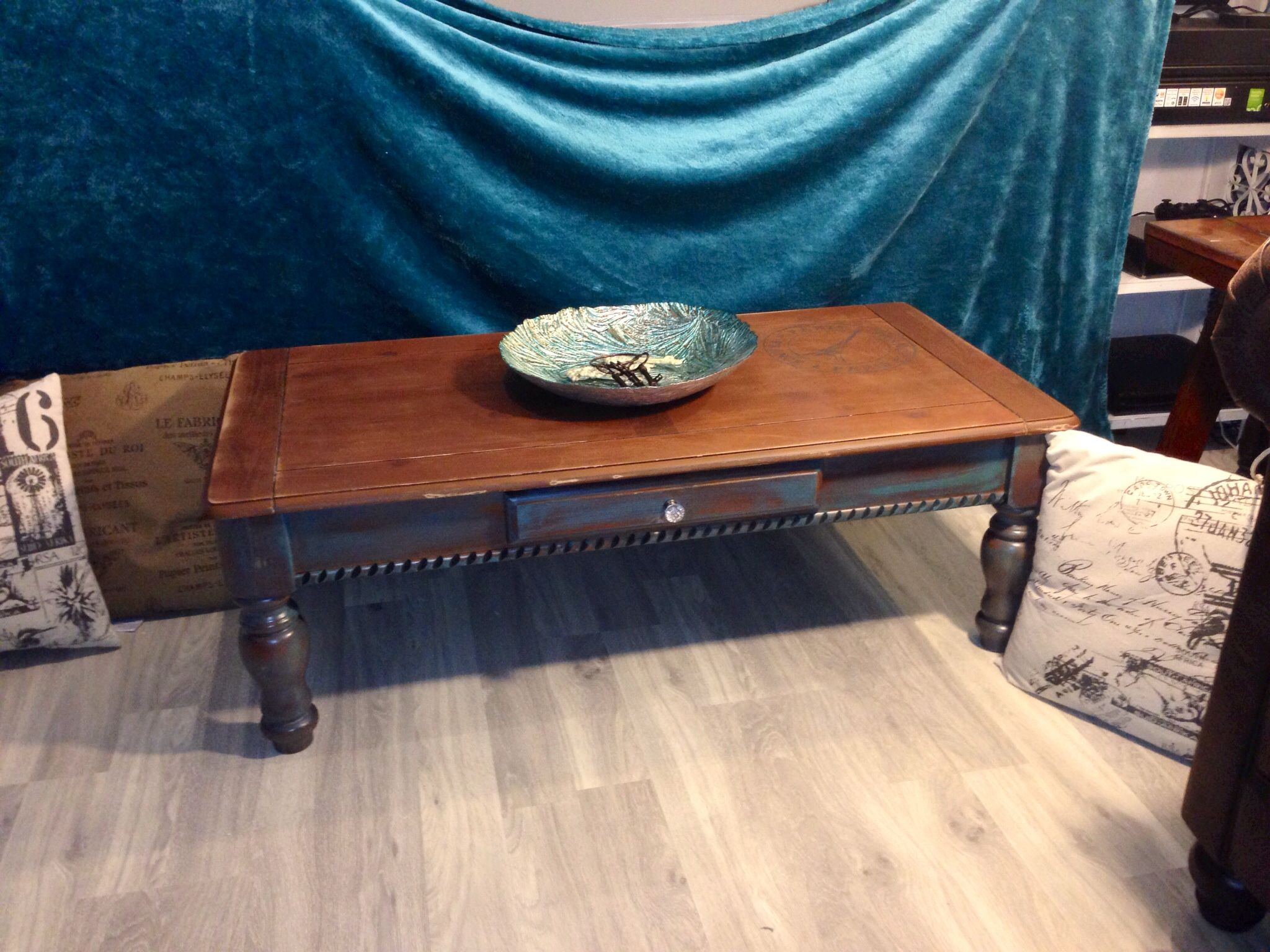 This Is An Extremely Heavy And Sturdy Solid Wood Coffee Table. It Has A Very