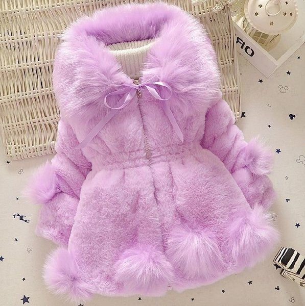 Winter Floral Coat Cloak Thick Warm Hoodie Outerwear Willsa Baby Girls Jacket