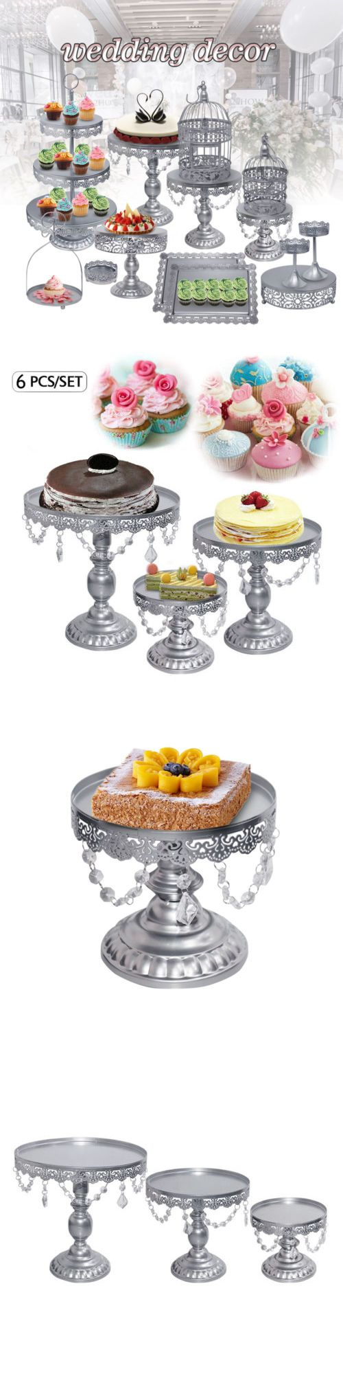 crystal silver metal cake holder cupcake stand birthday