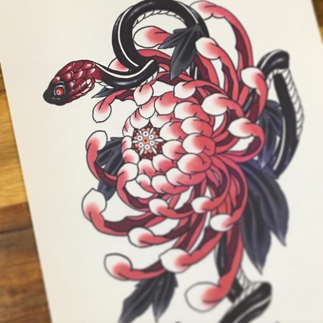 Pin Ot Polzovatelya Otzi Na Doske Neo Japanese Tattoo Idei Dlya Tatuirovok Tatu Hrizantemy