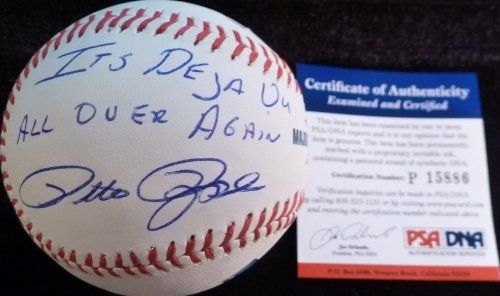 Psa Dna Pete Rose It S Deja Vu All Over Again Autographed Signed Major League Bud Selig Baseball 149 99 Pete Rose Autog Pete Rose Major League Yogi Berra