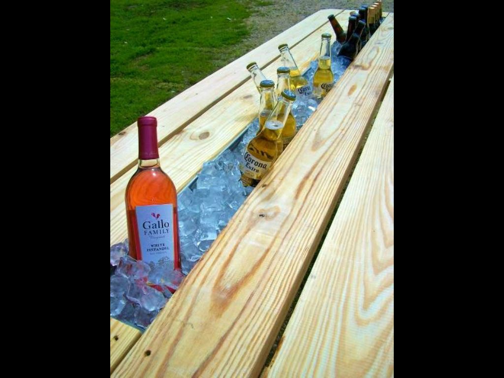Outdoor Bar Using Old Gutters Future Projects