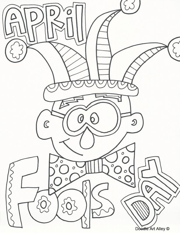 Picture Coloring pages, April fools day, April fools