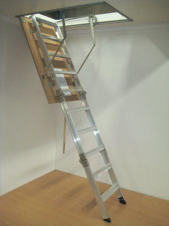 Pull Down Ladder For Roof Space Storage Attic Storage Attic Remodel Attic Flooring