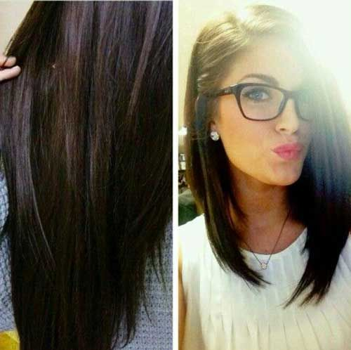 20 Long Bob Dark Hair Bob Haircut And Hairstyle Ideas Hair Styles Dark Hair Bobs Long Hair Styles