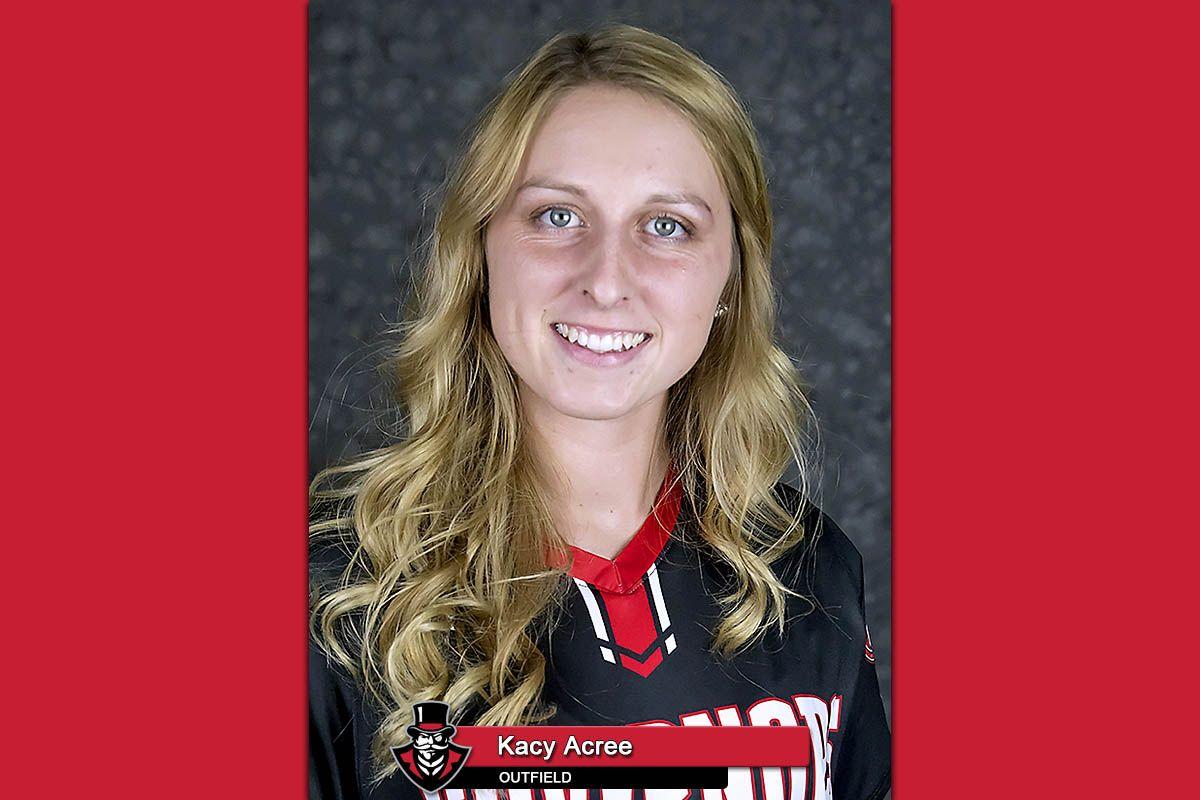 APSU Softball's Kacy Acree OVC Player of the Week