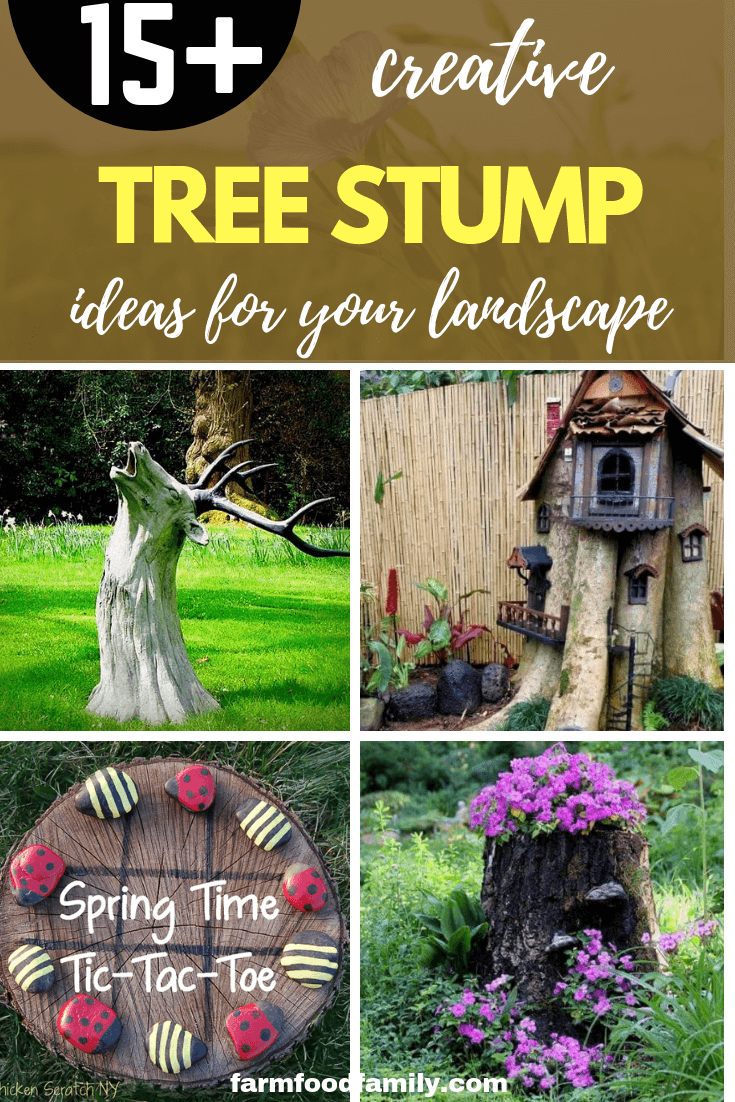 15 Creative Tree Stump Decorating Ideas Will Transform Your